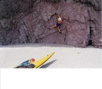 "Rock Climbing Photo: Bouldering on the ""Beach Wall""!"