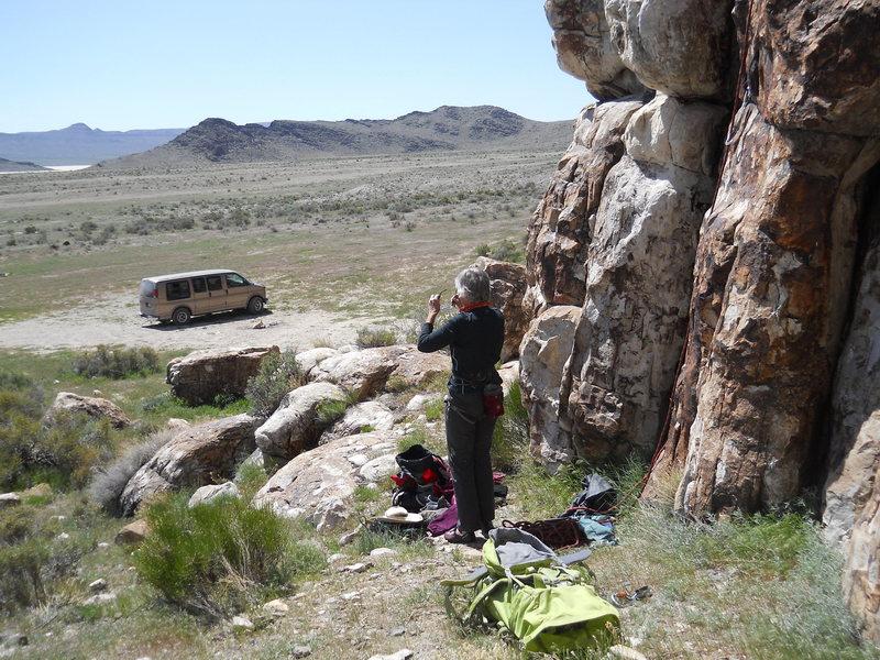 "Rock Climbing Photo: Base of ""Warm Up"""