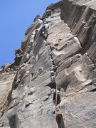 Rock Climbing Photo: 5.11- gnarly gear crack many smallest aliens  up t...