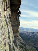Rock Climbing Photo: Traversing to the poison flower finish from the st...