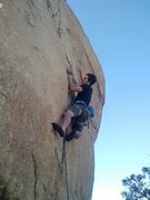 Rock Climbing Photo: Austin feeling the freeze while the wind was blowi...
