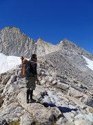 Rock Climbing Photo: Dan considers all that lies before him.  July 2012...