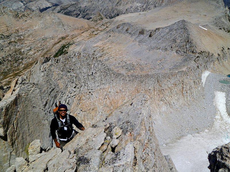 With Dan at Sierra cruising altitude!