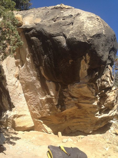 Rock Climbing Photo: Start on the blocky hold near the right side of th...