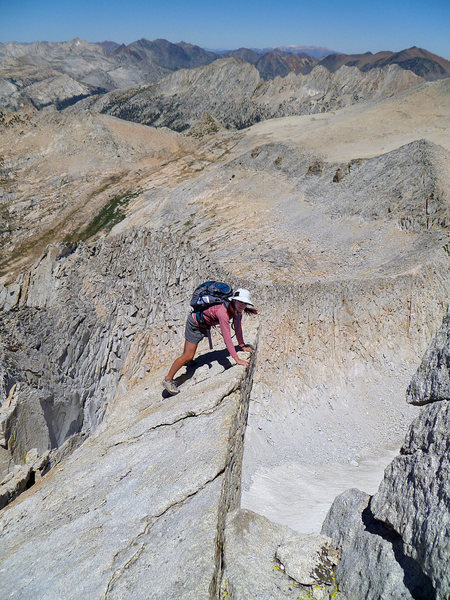 Rock Climbing Photo: If you look down you can practice your thousand-ya...