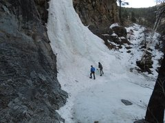 Rock Climbing Photo: Taking a friend out on his first ice climb!