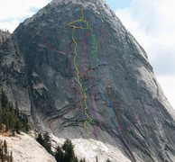 Rock Climbing Photo: North Face Fairview Dome Routes