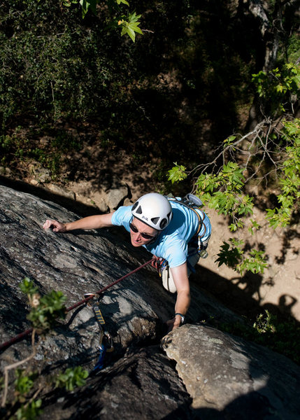 Rock Climbing Photo: Marisa Fienup is past the crux, on the left-hand (...