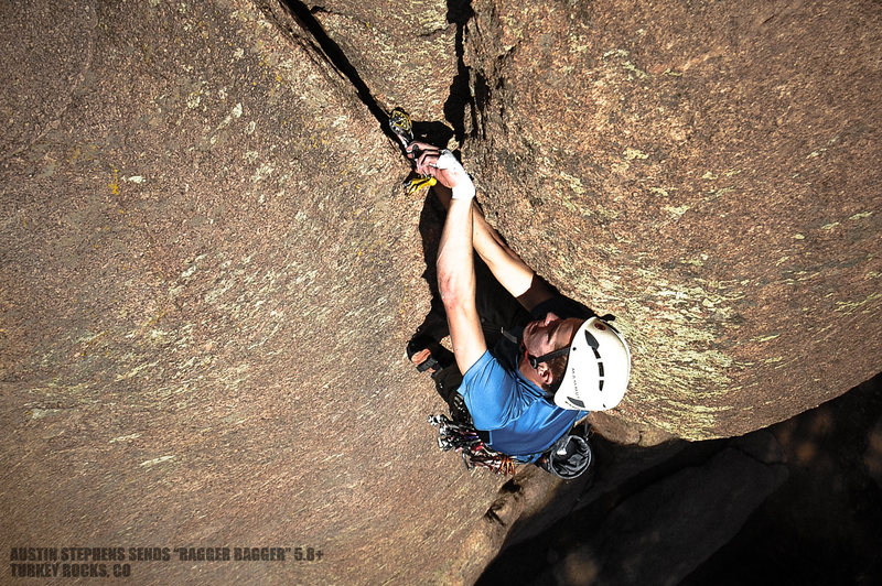 Rock Climbing Photo: Austin placing some pro before launching into the ...
