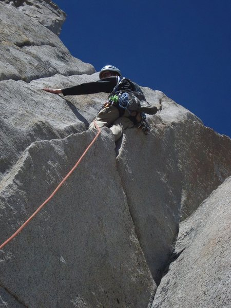 Rock Climbing Photo: Low down, I think it's pitch 1