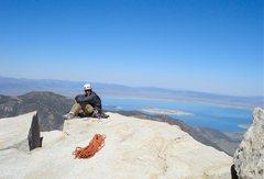 Rock Climbing Photo: Summit, with Mono lake