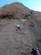 Rock Climbing Photo: Texas canyon, left of pangea wall...  5.10b ???