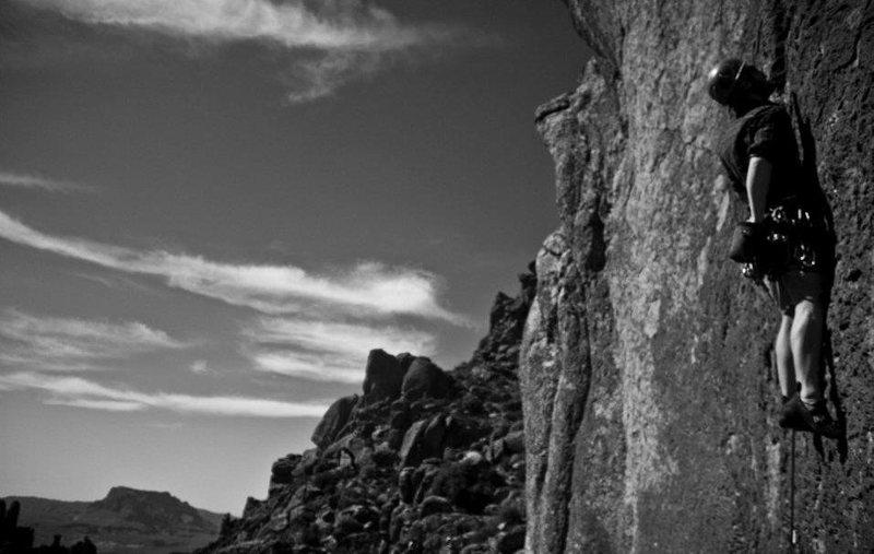 Rock Climbing Photo: me on soft parade. Photo by Kurt Licence