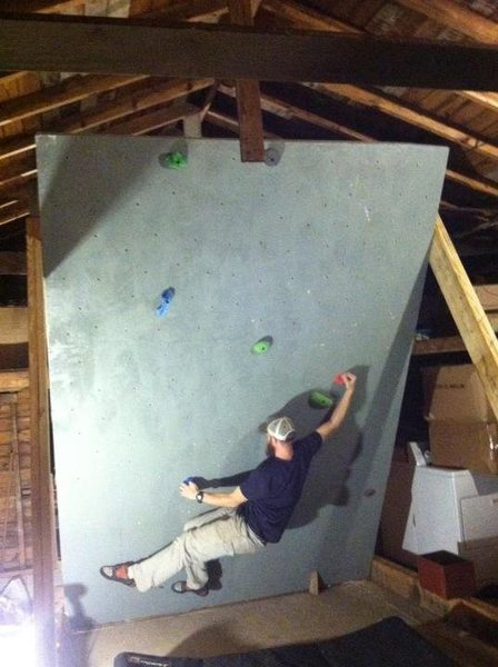 Rock Climbing Photo: First problem.