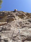 Rock Climbing Photo: Onsight of Fire Zone in Ridgeline