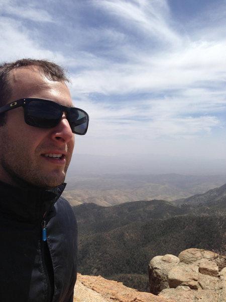Marc on top of Ridgeline