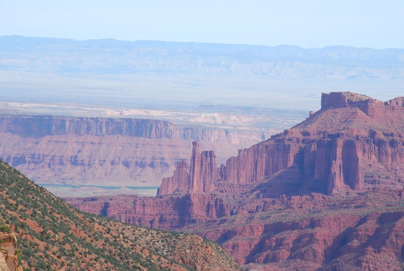 Fisher Towers from Fisher Mesa 2009.
