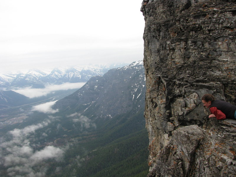 Rock Climbing Photo: Mt. Yamnuska. Just went hiking...never actually cl...