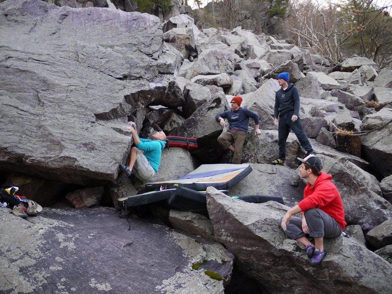 Rock Climbing Photo: Steve at the start