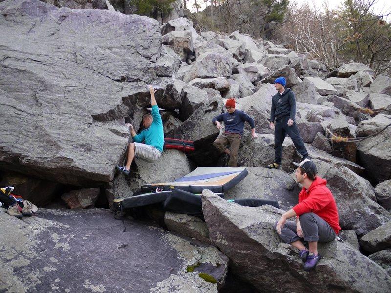 Rock Climbing Photo: First move, Steve