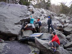 Rock Climbing Photo: Steve hitting the jugs