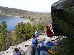 Rock Climbing Photo: Nate on Sunny and 60's