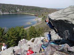 Rock Climbing Photo: Fun problem.  Dobbe repeating