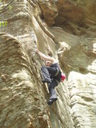 Rock Climbing Photo: Warming up on Come In Your Lycra (5.10a, RRG)