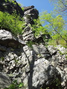 Rock Climbing Photo: This shows the right side of the double overhang a...