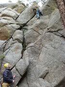Rock Climbing Photo: Below the third bolt.
