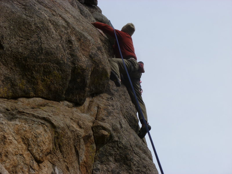 Rock Climbing Photo: Just past the second bolt.