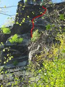 Rock Climbing Photo: This shows the second pitch of corkscrew.