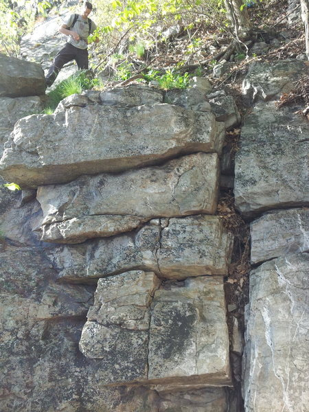 Rock Climbing Photo: A short scramble here brings you to the start of t...