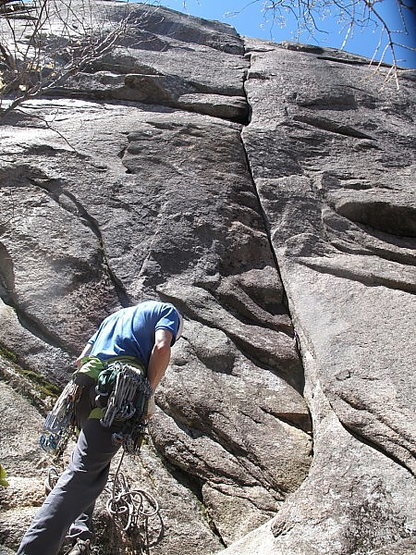 Rock Climbing Photo: The incredible crack of Green Peace
