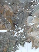 Rock Climbing Photo: Pitch 1. The traverse left is about 40 feet above ...
