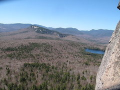 Rock Climbing Photo: Great views. Greens Cliff and Sawyer Pond