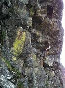 Rock Climbing Photo: Chris Gilbert on Self Deception .11+. The Negativi...