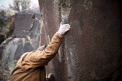 Rock Climbing Photo: Pat on Bear Hug at Dierkes Lake