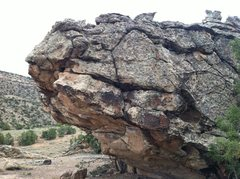Rock Climbing Photo: Northeast face of Guano Boulder.