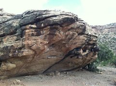 Rock Climbing Photo: West side of Guano Boulder.