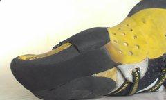 Rock Climbing Photo: downturned shoe BEFORE