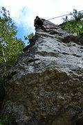 Rock Climbing Photo: toproping the Menhir