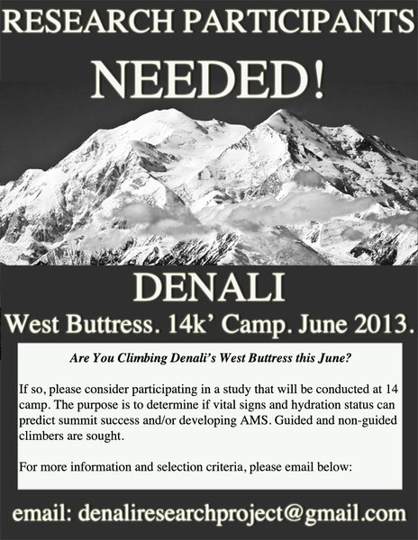 please email denaliresearchproject@gmail.com for more information
