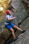 Rock Climbing Photo: Hannah belays at the base of Orangahang, at San Ys...