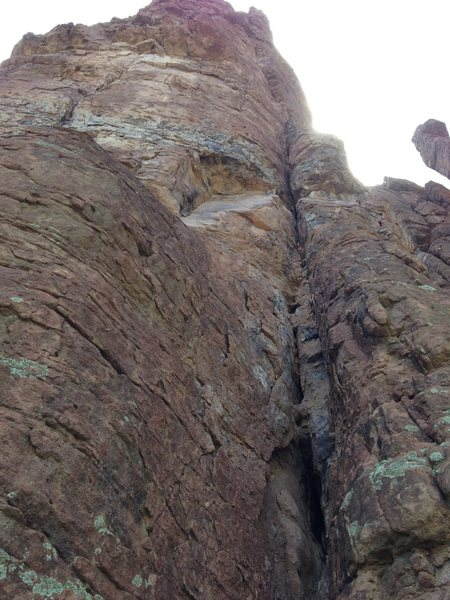 Rock Climbing Photo: A bit better exposure showing the lower section of...