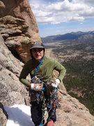 Rock Climbing Photo: Mike on Sidetrack (Sundance Buttress).  Lumpy Ridg...