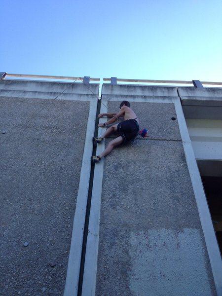 Climbing Matilda's Crack