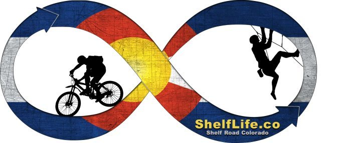 Shelf Life logo - CO flag.