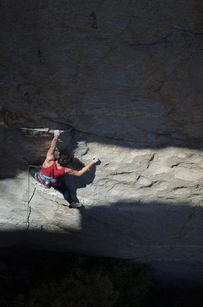 Rock Climbing Photo: Liam Oden low on Wild Thing.