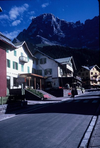 San Martino di Castrozza in the early morning (1963).